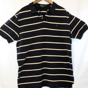 Vintage POLO Ralph Lauren Shirt. XL Navy/White